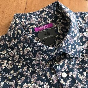 H&M Liberty London Printed Button Down Shirt